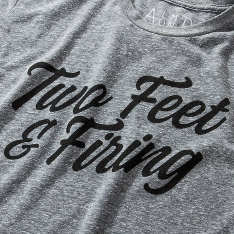 Two Feet & Firing Tee | Heather