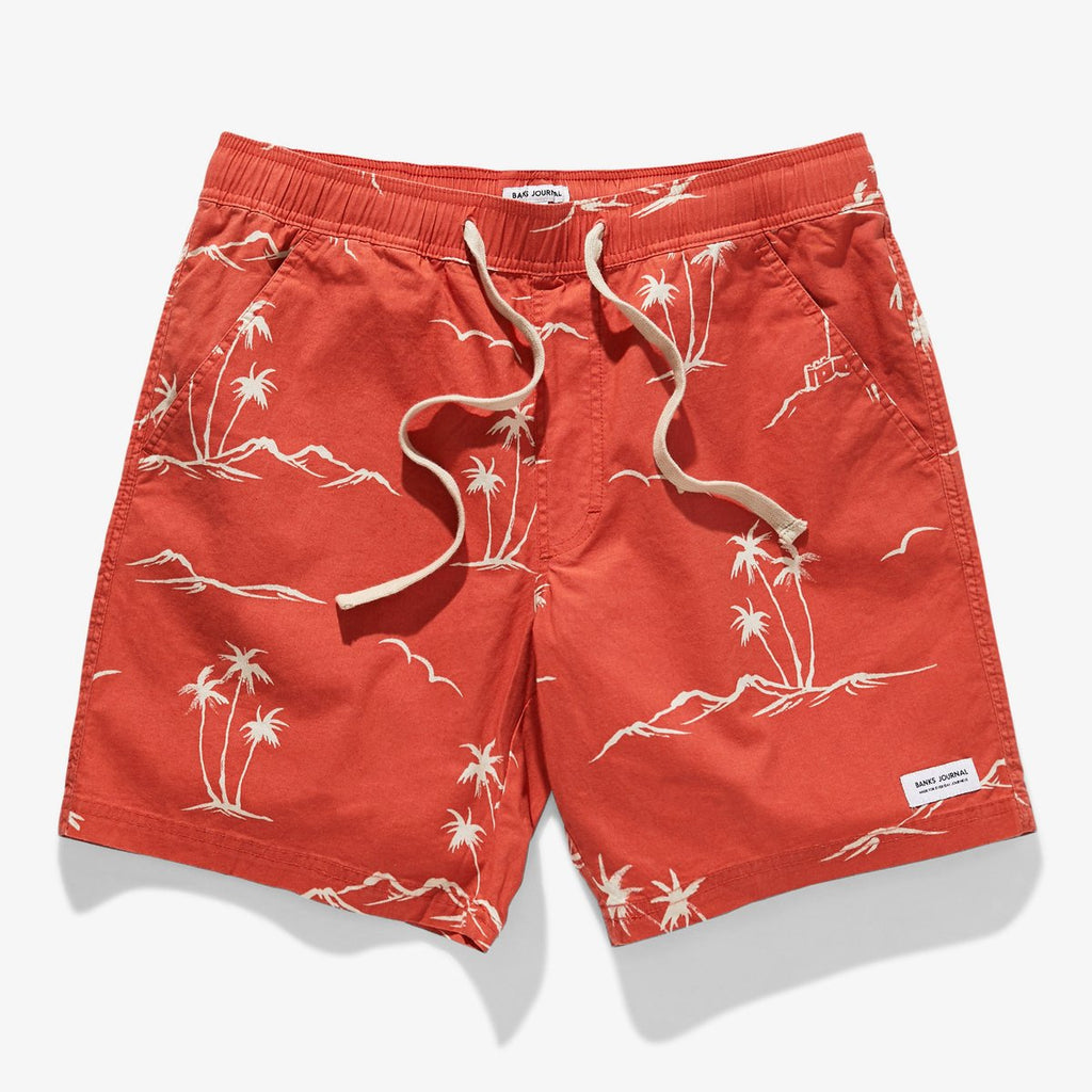 CAPE BOARDSHORT | BURNT RED