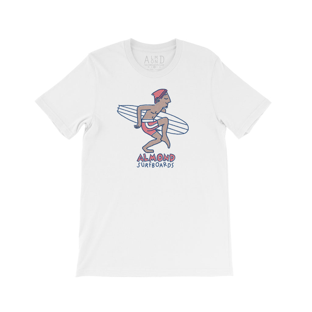 Almond Dude Tee | White