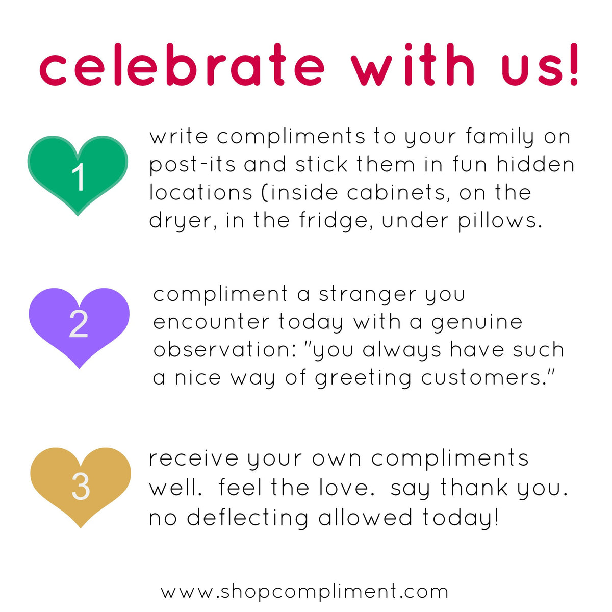 happy world compliment day!