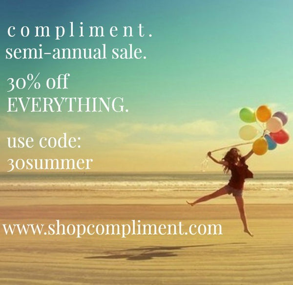 Shop Compliment Semi-annual sale