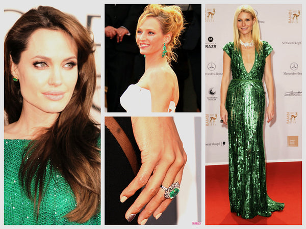 Angelina Jolie Green Dress