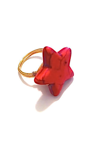 red star ring liberty