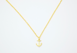 anchor necklace.