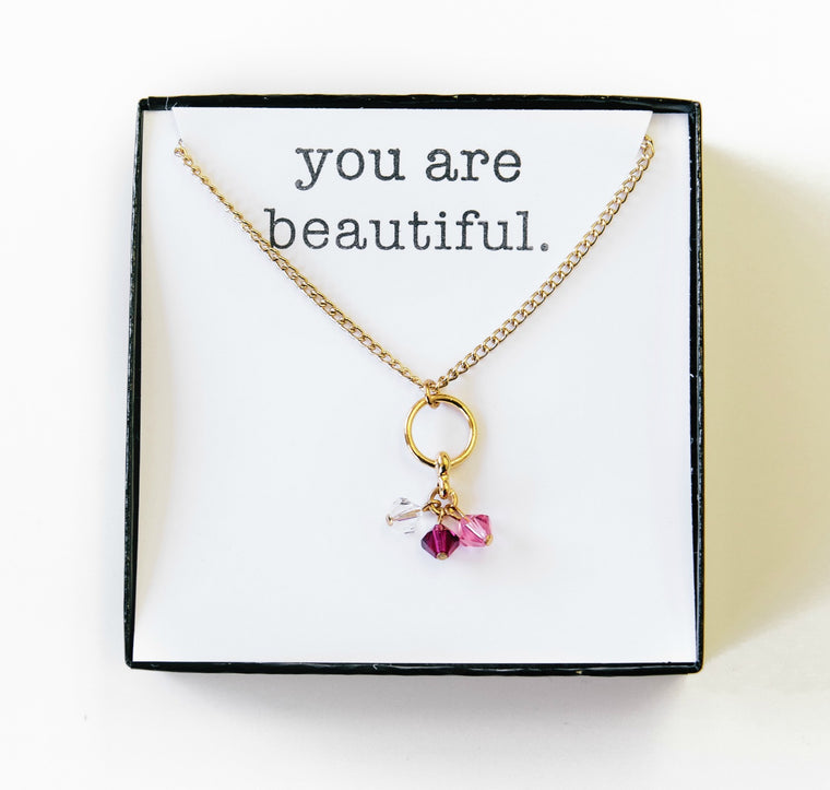 birthstone necklace.