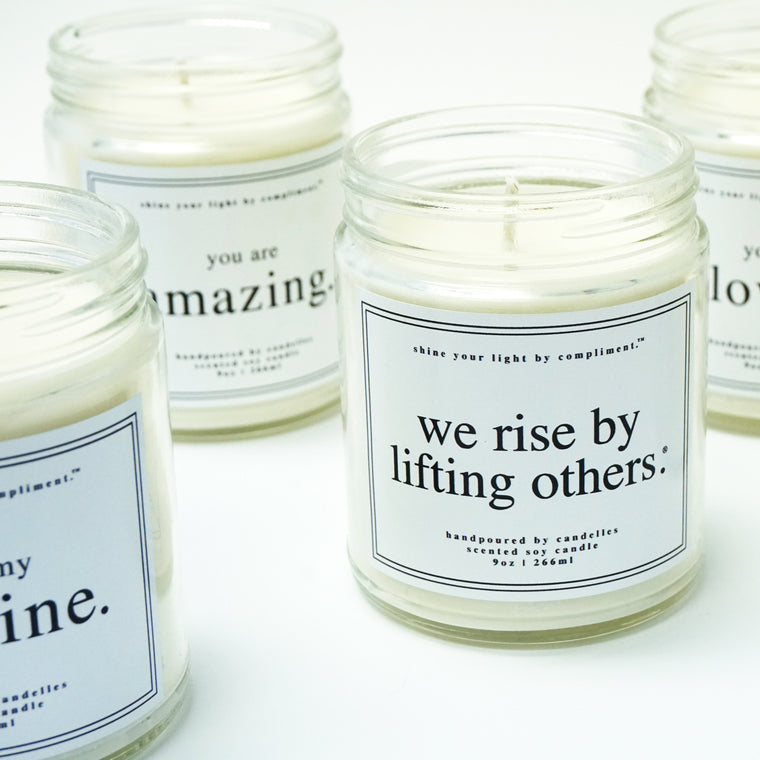 shine your light candles (12 phrases to choose from)