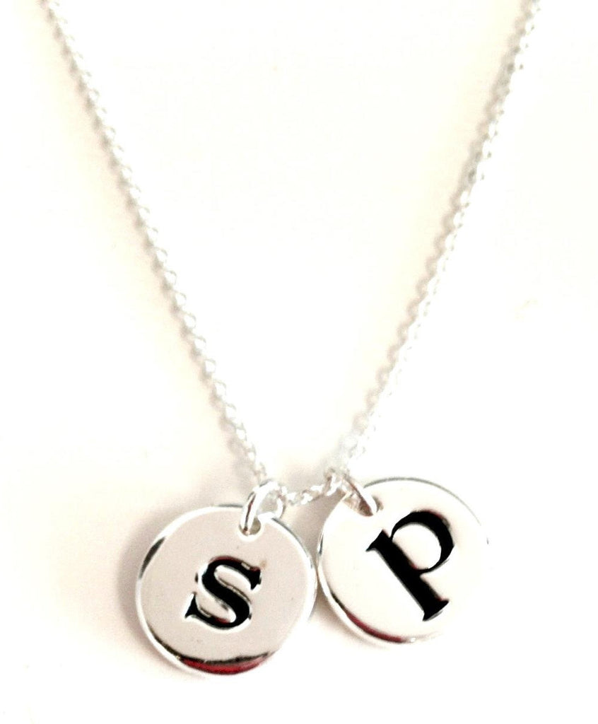 little luxe letters necklace- silver