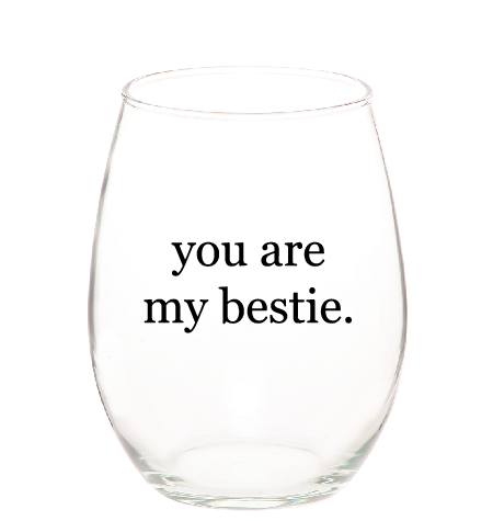 imperfect stemless bestie glasses (set of 2)