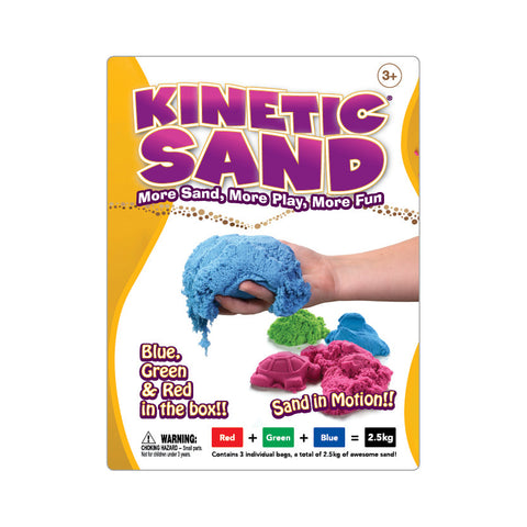 Kinetic Sand 2.5Kg Colour Red Blue Green