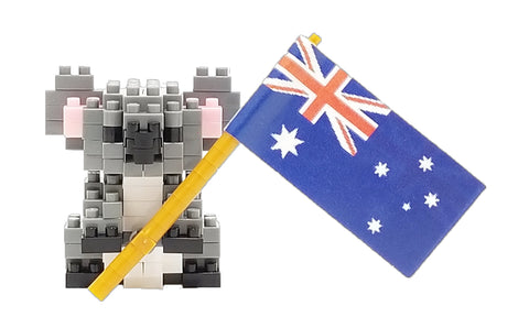 Koala with Flag - OUT OF STOCK: ETA Early Jun