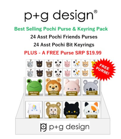 P+G Design Best Selling Purse & Keyring