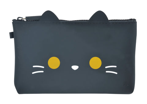 mimi NUU Friends Black Cat Zipper Pouch