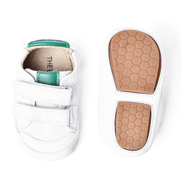 THEE BRON Infant Toddler Baby Soft Sole Leather Shoes for Girls Boys Walking Sneakers