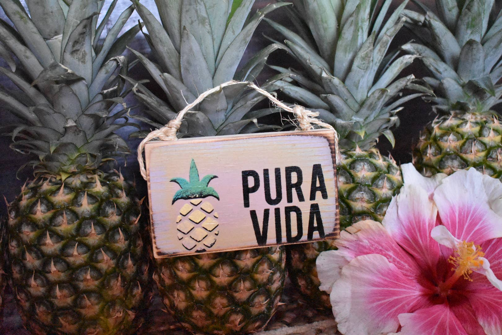 Pura Vida Wood Sign - Costa Rica Decor - Beach Decor