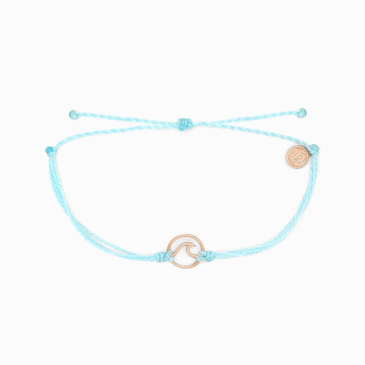 Pura Vida Rose Gold Wave Charm