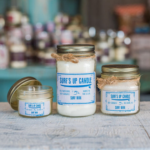 Surfs Up Candle- Mason Jar Candle
