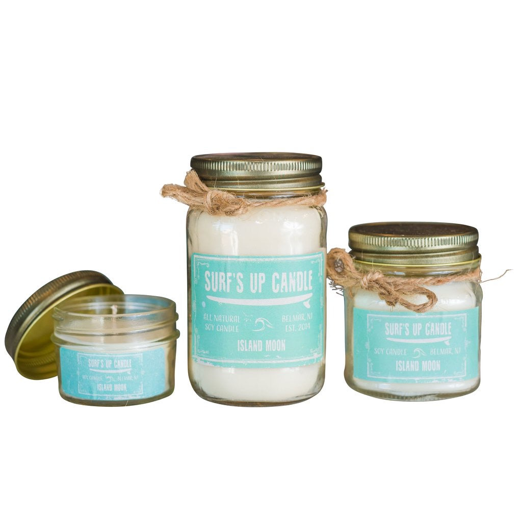 Surfs Up Candle Medium Mason Jar