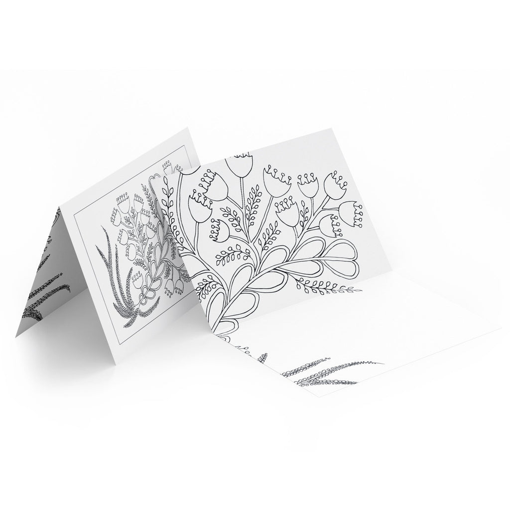 Folded Colouring Cards