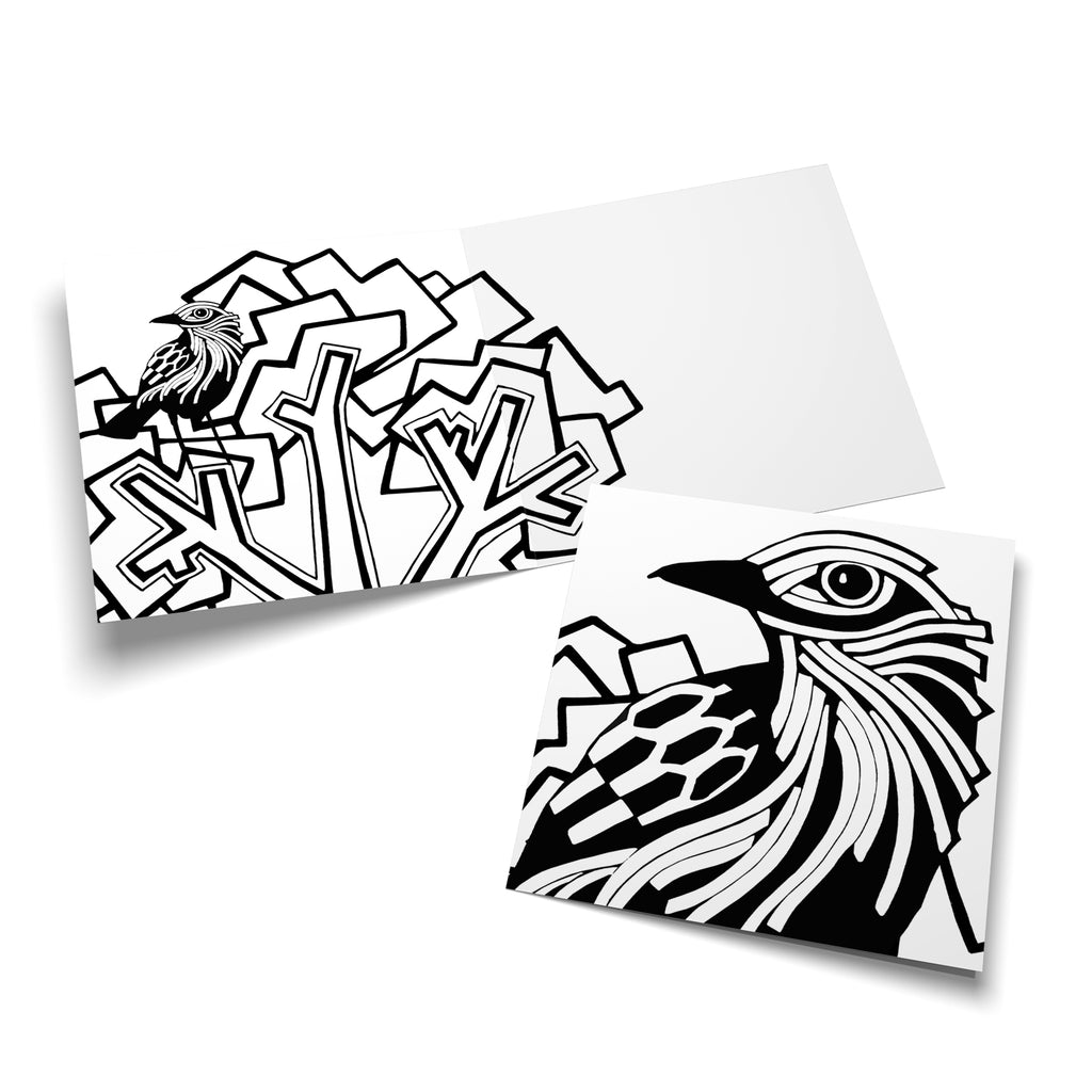 Bird colouring card