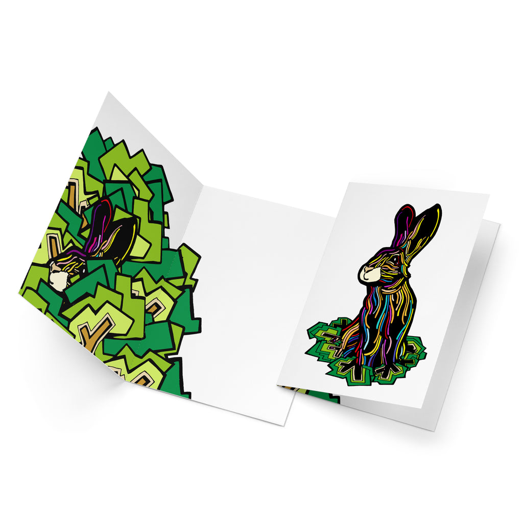 Colourful Rabbit multipack 5 greeting cards
