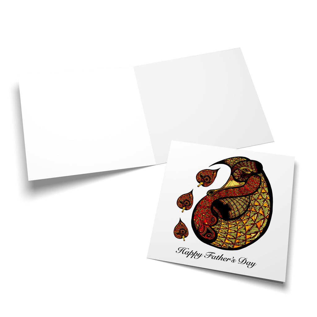 Blank, white inside of a square style greeting card.