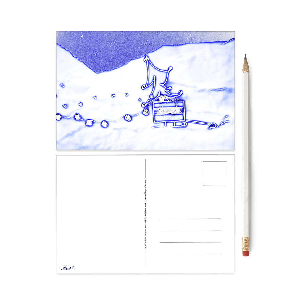 Snail Mail Frosty Winter Lights postcard
