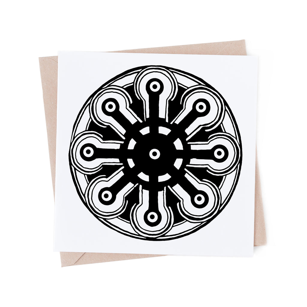 Mandala 03 colouring card