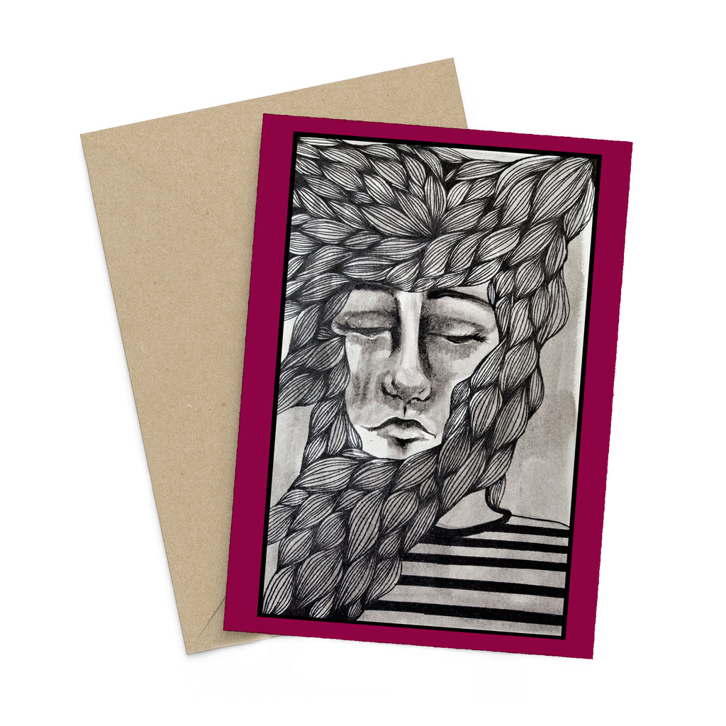 Miss Melancholy greeting card