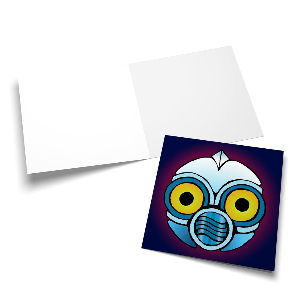 Robot Head 1 greeting card