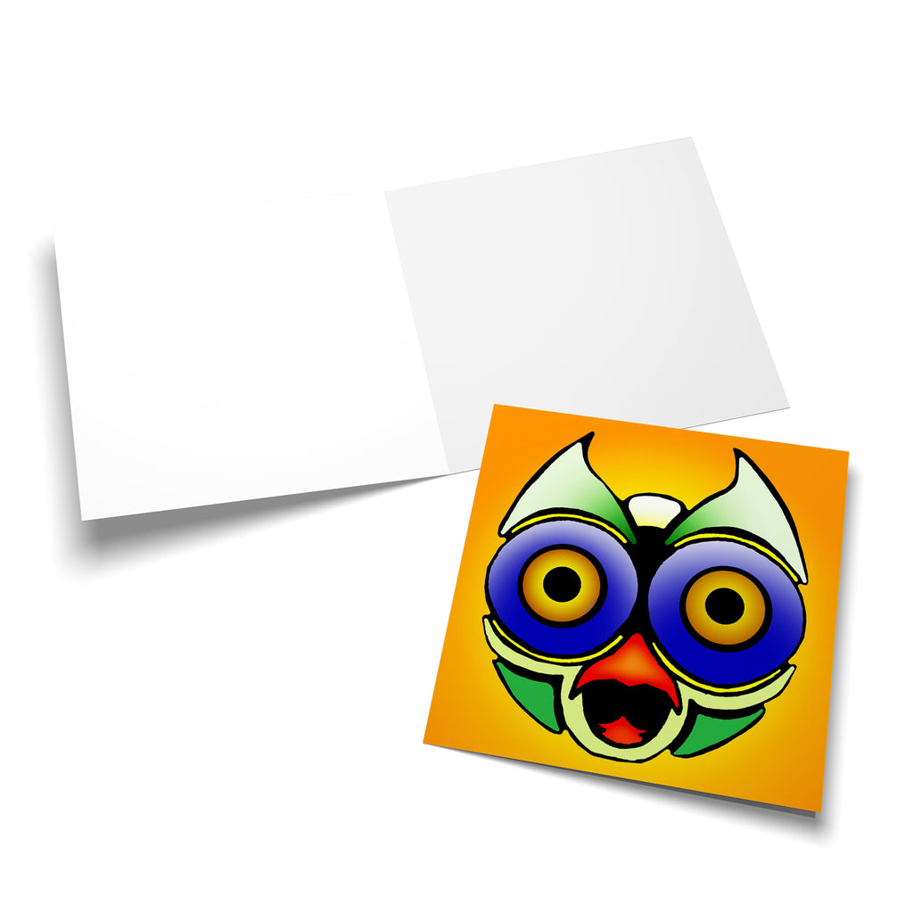Robot Head 3 greeting card