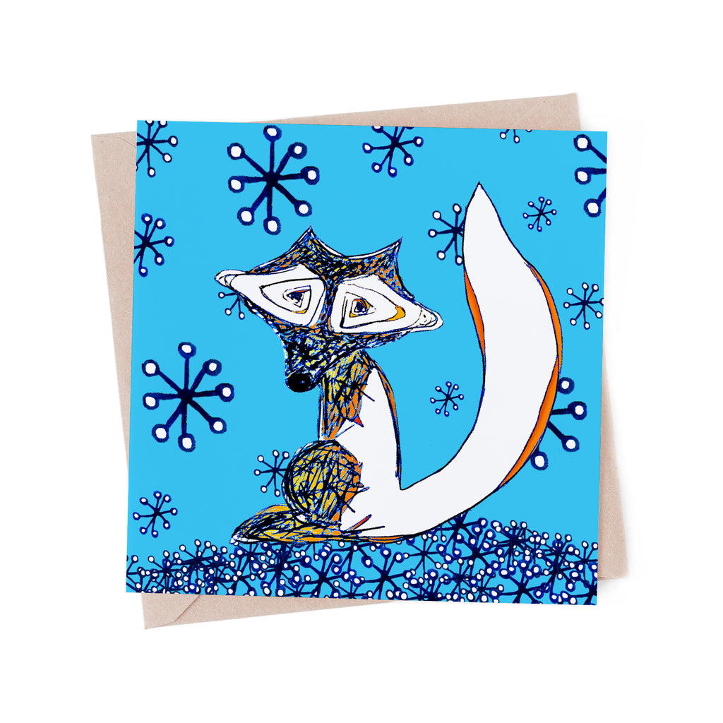 Winter Fox in the Snow Greeting Card