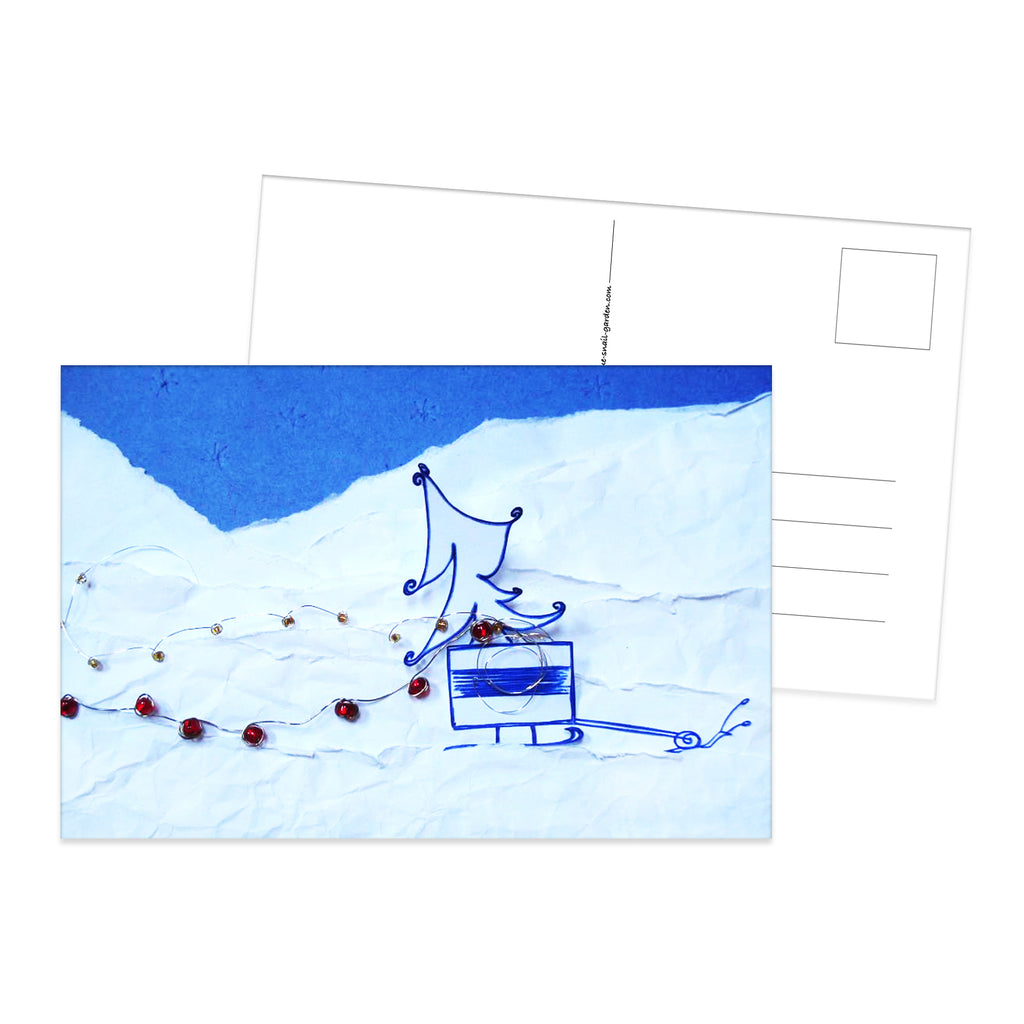 Snail Mail Winter Lights postcard