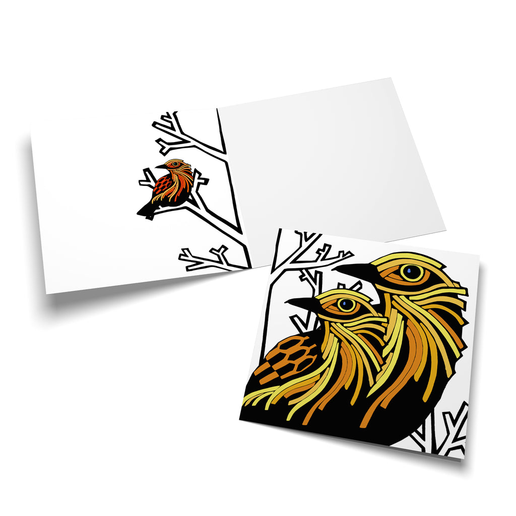 Autumn Birds multipack 5 greeting cards