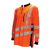 THHV2010 Long Sleeve T-Shirt - Hi Vis Orange