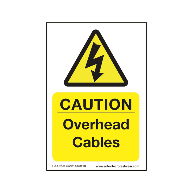 "SS0110 Corex Safety Sign ""Caution Overhead Cables"""