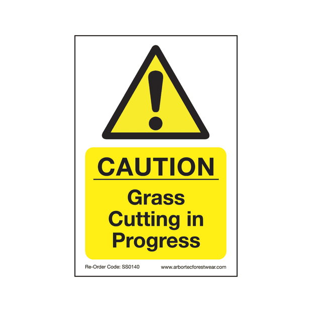 "SS0140 Corex Safety Sign ""Grass Cutting in Progress"""
