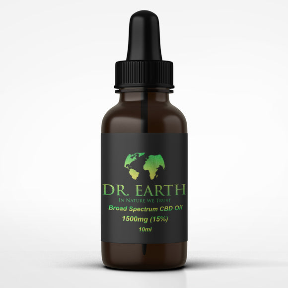 DR. Earth Broad Spectrum CBD Oil 1500mg (15%)