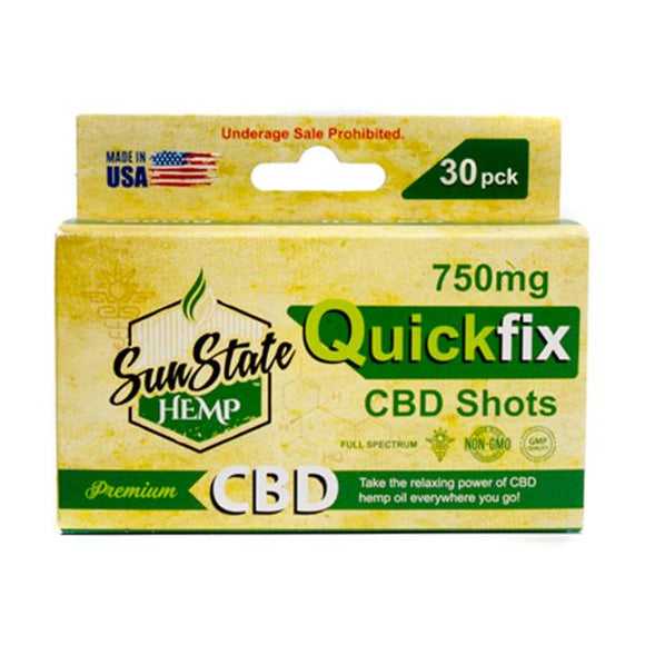 Sun State Hemp 750mg CBD Quick Fix CBD Shot - 30 Pack