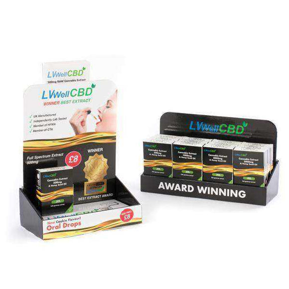 LVWell CBD 12 Piece Raw CBD Retail Starter Pack