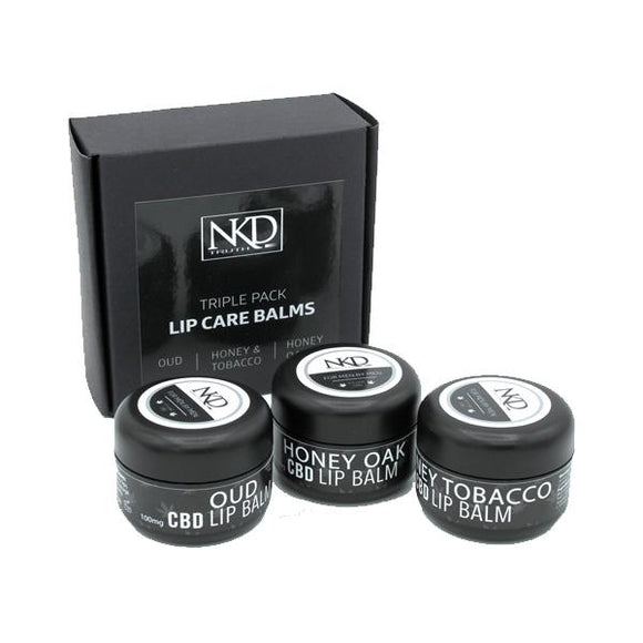NKD 300mg CBD Infused Speciality Lip Balm Gift Set