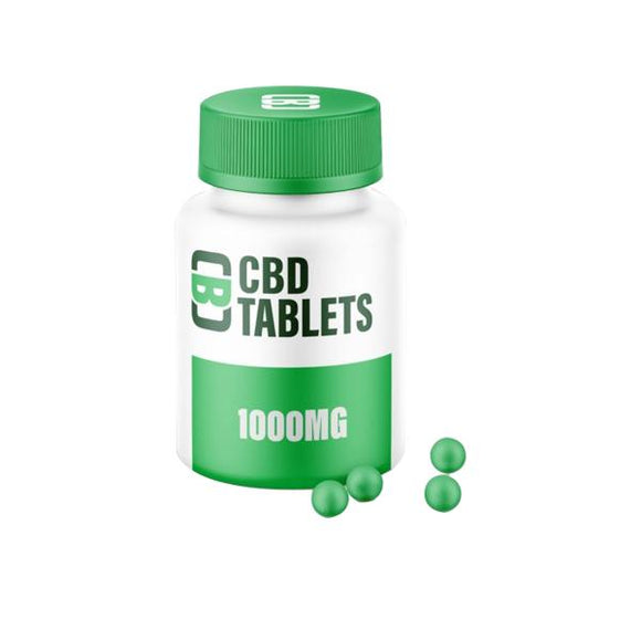 CBD Asylum Tablets 1000mg CBD 100 Tablets (Buy One Get One Free)