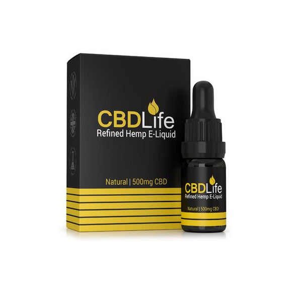 CBDLife Broad Spectrum 500mg CBD 10ml E-Liquid (70VG/30PG)