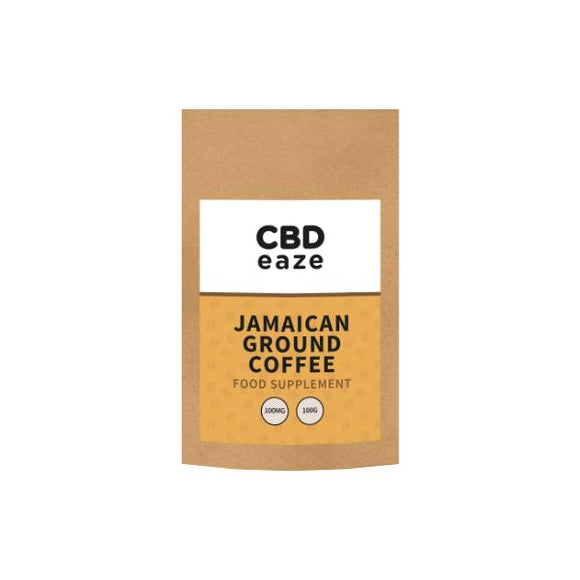 CBDeaze 100mg CBD Jamaican Ground Coffee - 100g