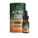 Aztec CBD 300mg CBD Vaping Liquid 10ml (50PG/50VG)