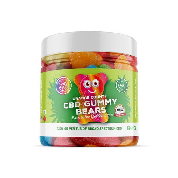 Orange County 1200mg CBD Gummy Bears - Small Pack