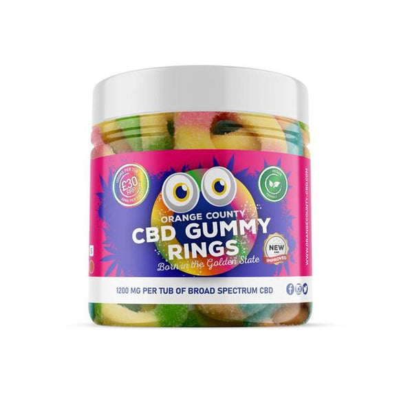 Orange County 1200mg CBD Gummy Rings - Small Pack