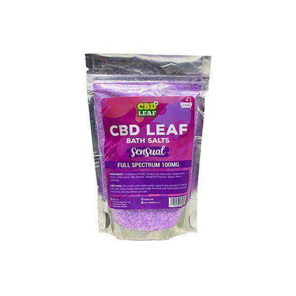 CBD Leaf Full Spectrum 100mg CBD Bath Salts - Sensual