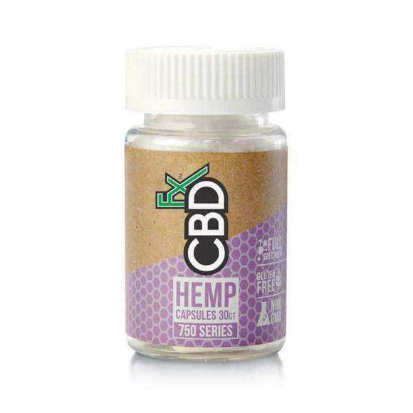 CBDFx 750mg CBD Hemp Capsules 30ct