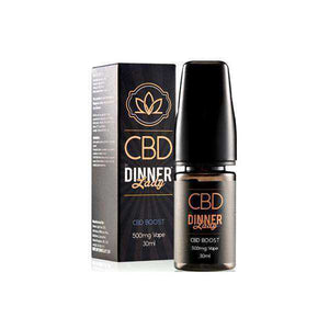 Dinner Lady 500mg CBD 30ml E-Liquid Boost (70VG-30PG) - [cannabidiol_online]