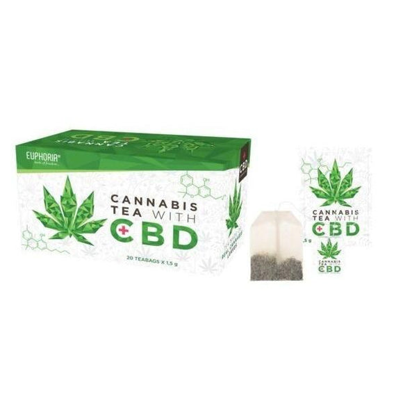 Euphoria Cannabis Tea With CBD - [cannabidiol_online]